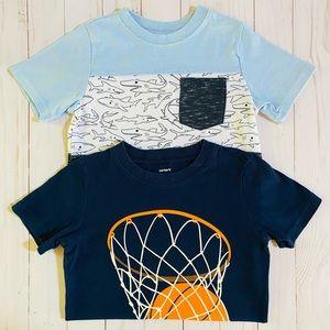 Carter's Toddler Boy Short Sleeve T-Shirts- 4T